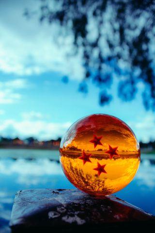 Обои на телефон мяч, звезда, дракон, dragon ball z