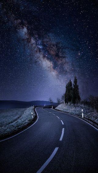 Обои на телефон небо, дорога, road sky