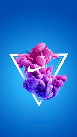Обои на телефон минимализм, цветные, формы, найк, логотипы, бренды, абстрактные, powder, nike abstract, nike, abtract