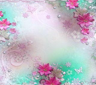 Обои на телефон бумага, цветы, цветочные, фон, paper background, floral paper