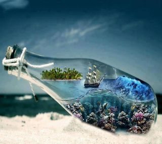 Обои на телефон корабли, море, мир, бутылка, sea bottled, creativity, aquqrium