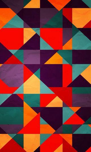 Обои на телефон треугольники, красочные, абстрактные, hd