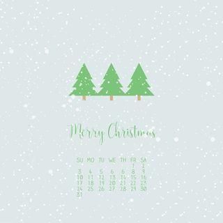 Обои на телефон календарь, снег, деревья, декабрь, snow trees, 12.cal