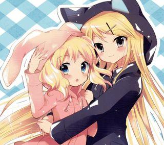 Обои на телефон девушки, аниме, blond