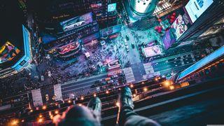 Обои на телефон чикаго, просто, одиночество, город, ночь, новый, квадратные, times, do, ciudades