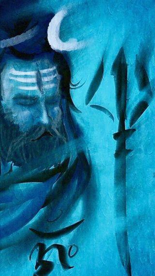 Обои на телефон престолы, шива, синие, неоновые, махадев, индийские, господин