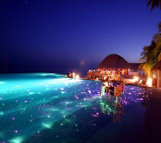Обои на телефон тропические, ночь, tropical night, 2160x1920