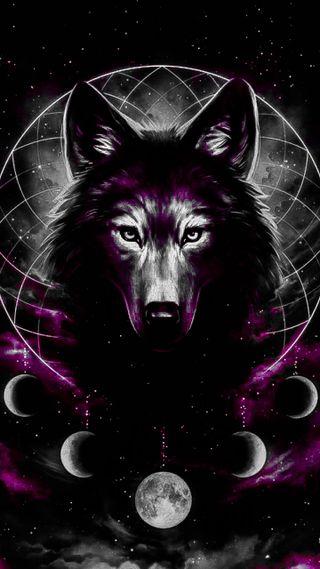Обои на телефон великий, черные, северный, облака, волк, the great wolf
