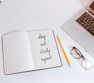 Обои на телефон сон, школа, учиться, умник, книги, ешь, sleep eat study repeat, backtoschool