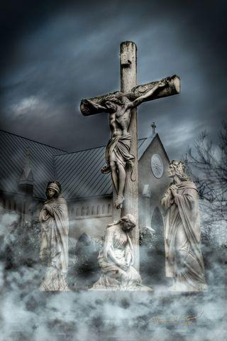 Обои на телефон церковь, христос, крест, христианские, религия, исус, духовные, crucifix, bsi church, beautifullyscene