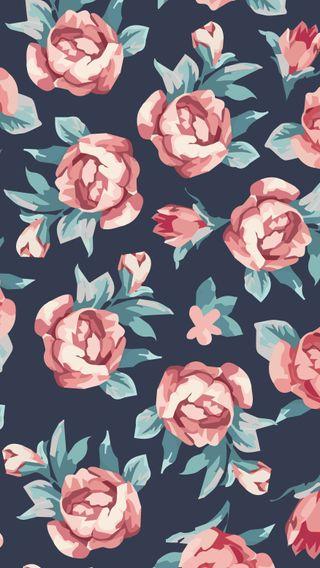 Обои на телефон шаблон, розы, винтаж