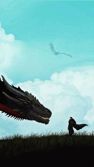 Обои на телефон таргариен, снег, игра, дракон, got, jon and drogon, jon, drogon, dragon, daenerys targaryen