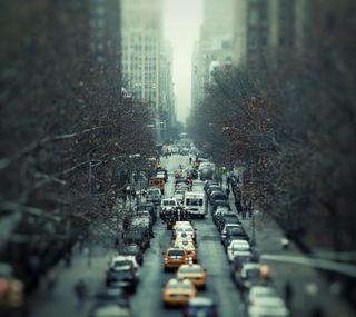 Обои на телефон трафик, дорога, город