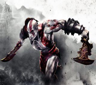 Обои на телефон война, бог, god of war, 2160x1920