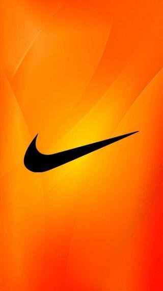 Обои на телефон оранжевые, найк, логотипы, nike