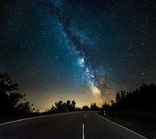 Обои на телефон млечный, дорога, любовь, космос, milky road, love