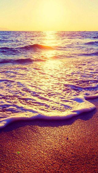 Обои на телефон солнечный свет, пляж, вода
