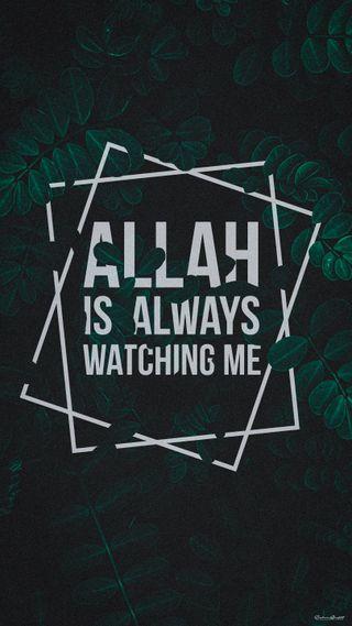 Обои на телефон мусульманские, я, ислам, бог, аллах, watching