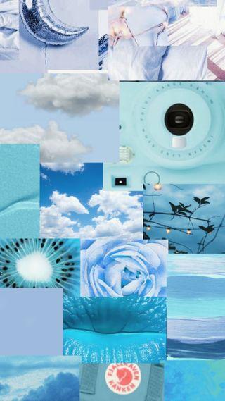 Обои на телефон геометрические, синие