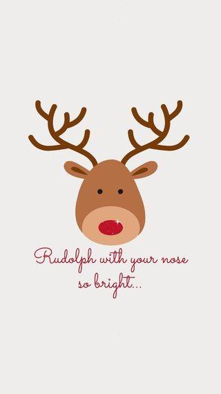 Обои на телефон олень, рождество, rudolph