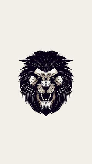 Обои на телефон злые, черные, логотипы, лев, дизайн, 1080p