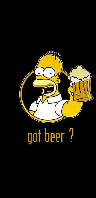 Обои на телефон симпсоны, пиво, гомер, note 8