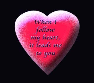 Обои на телефон мой, ты, сердце, романтика, любовь, love, lead, follow my heart