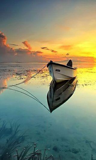 Обои на телефон лодки, вода
