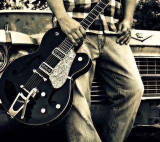 Обои на телефон электрические, приятные, новый, гитара