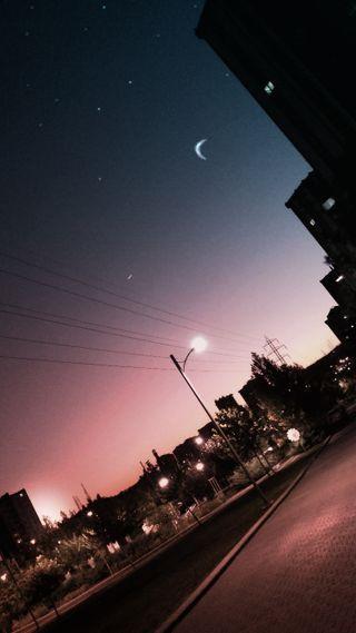 Обои на телефон глубокие, фотография, синие, ночь, луна, земля, звезда, закат, sokak