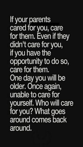 Обои на телефон карма, забота, старые, parents, opportunity