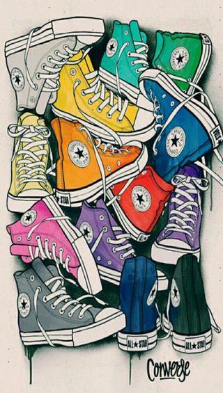 Обои на телефон обувь, конверсы