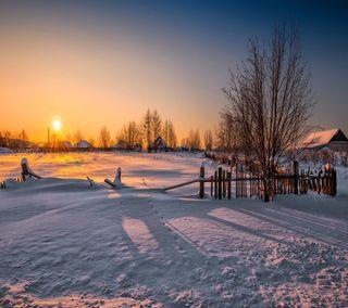 Обои на телефон взгляд, снег, приятные, прекрасные, милые, зима, закат, winter sunset snow