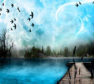 Обои на телефон рокки, путь, птицы, природа, облака, новый, небо, небеса, любовь, крутые, love, 3д, 3d sky nature, 2012