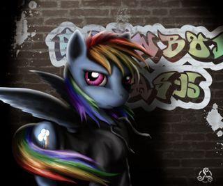 Обои на телефон пони, радуга, мой, маленький, магия, дружба, rainbow dash grafiti, mlp, graffitti, dash