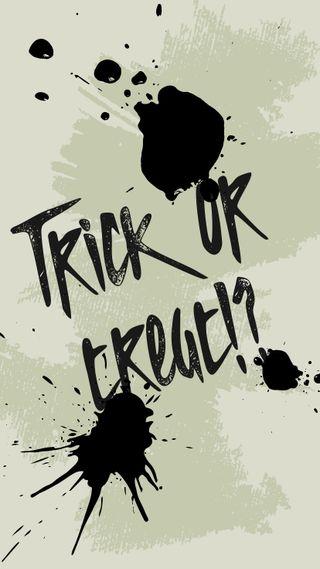 Обои на телефон ужасные, хэллоуин, угощение, страшные, октябрь, обманывать, белые, trick or treat white