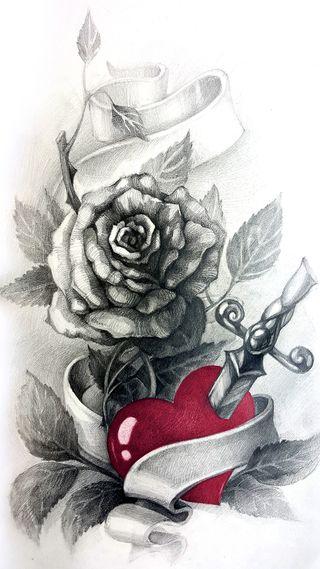 Обои на телефон панк, чернила, хипстер, татуировки, тату, розы, крутые, дизайн, арт, zedgetat2, zedgeob2, rose tattoo, art