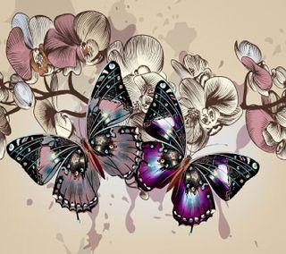 Обои на телефон цветы, новый, бабочки