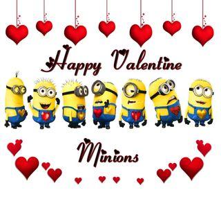 Обои на телефон я, сердце, мультфильмы, миньоны, любовь, красые, гадкий, валентинка, valentine minions, love red, despicable me cartoon
