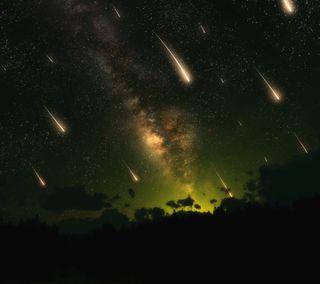 Обои на телефон космос, галактика, nexus, meteor shower, meteor, galaxy s3, galaxy nexus