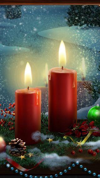 Обои на телефон свеча, icio, candele natalizie