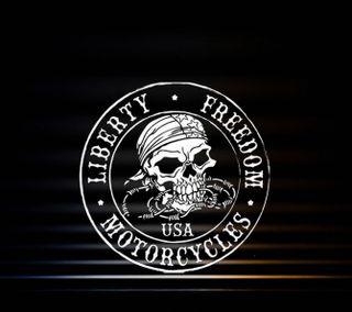 Обои на телефон череп, мотоциклы, логотипы, 1440x1280px