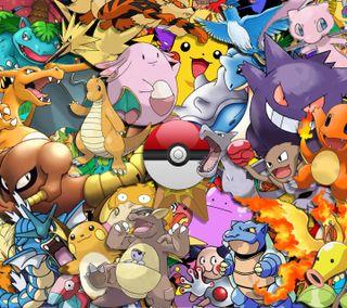 Обои на телефон покемоны, покебол, pokemon wallpaper