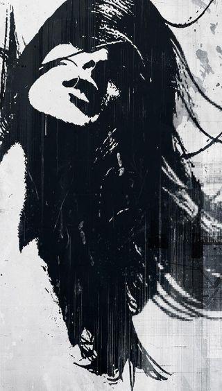 Обои на телефон готические, черные, красые, женщина, абстрактные, s6
