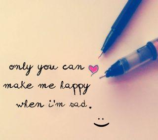 Обои на телефон я, ты, только, счастливые, смайлики, приятные, поговорка, новый, милые, любовь, жизнь, only you can, love, happy