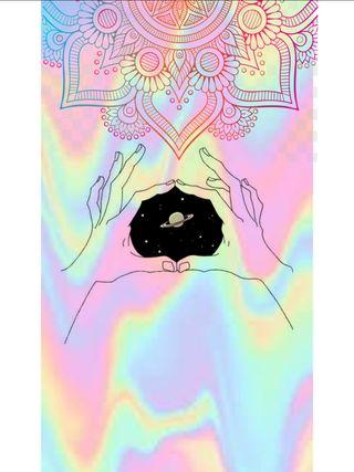 Обои на телефон цветные, мандала, tumblr, manos