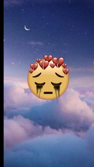 Обои на телефон эмоджи, шары, румыния, грустные, trist, sad wallpaper