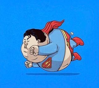 Обои на телефон супергерои, супермен, иллюстрации, дизайн, superman fat
