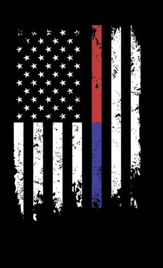 Обои на телефон полиция, флаг, синие, линии, красые, thin red, thin lines, thin blue, firefighters