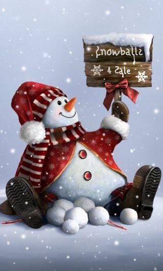 Обои на телефон холодное, снеговик, снег, рождество, милые, зима